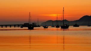 Sunrise in Beaumaris, Anglesey