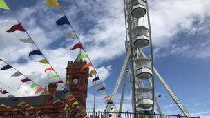 Fun in the sun at Cardiff Bay is encapsulated by Jen Dyson's shot