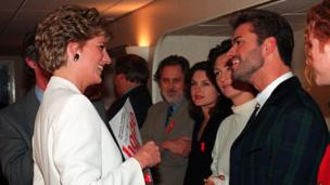 Princess Diana and George Michael