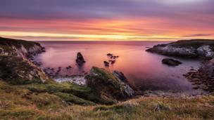 Sunset at Rhoscolyn by Ollie Pocock