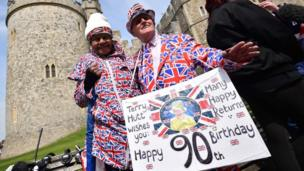 Well-wishers in Windsor