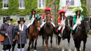 20 actors and four horses taking part in the re-enactment, organised by the Royal Black Preceptory