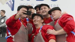 Butcher at World Butchers' Challenge in Belfast