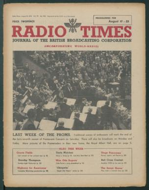 Front cover: 'Last Week Of The Proms' - in their new home The Royal Albert Hall