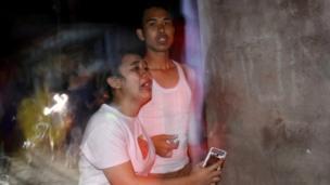 Mutane sun rude bayan girgizar kasa a yankin Ampenan, Mataram, Lombok,