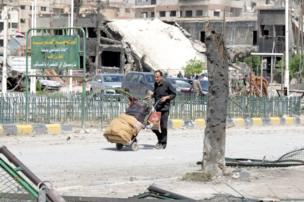 Ruins in Douma, 20 April
