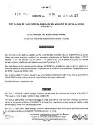 El texto del decreto.