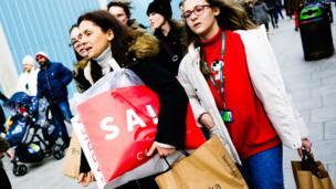 Shoppers carryin bags