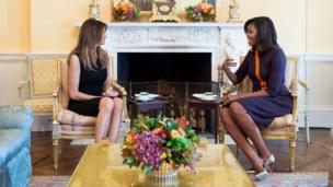 ميشيل أوباما وميلانيا ترامب