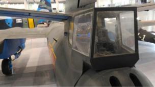 负责机上人员思想工作的廉保生就是在这个机尾炮塔中举枪自尽