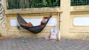 Beggar in Phnom Penh