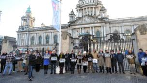 Vigil at Belfast City Hall