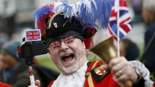 Royal fan dressed as town crier