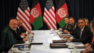 نشست دوجانبه میان آمریکا و افغانستان در حاشیه نشست ناتو