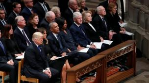 Donald and Melania Trump, Barack and Michelle Obama, Bill and Hillary Clinton, and Jimmy and Rosalynn Carter