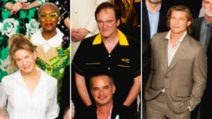 Renée Zellweger, Cynthia Erivo, Quentin Tarantino n' Brad Pizzle