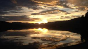 Sunset at Loch Katrine