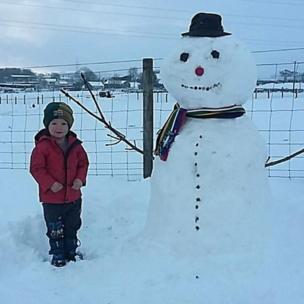 Alfie Breen with a new pal in Loughmourne, near Carrickfergus