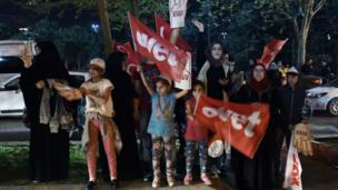 İstanbul'da 'Evet' destekçilerinden bir kare