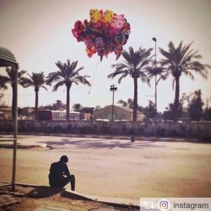 एवरीडे इराक के संस्थापक अहमद मूसा की खींची तस्वीर