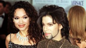 Prince, with his former wife Mayte Garcia, as the singer has died at the age of 57,