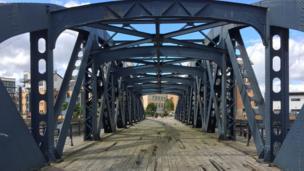 Bridge in Leith Docks