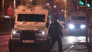 Police after Falls Road attack