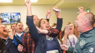 Sinn Féin's Elisha McCallion was ecstatic after taking the Foyle seat from the SDLP