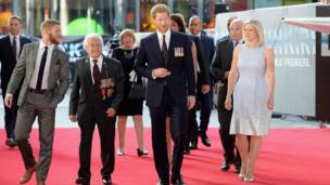 Prince Harry arriving at the premiere