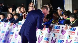 The Duke of Cambridge attends the Pride of Britain awards 2017