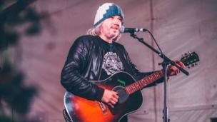Indie singer-songwriter Badly Drawn Boy performs to a large crowd at Festival No 6