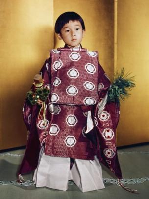 Príncipe Naruhito de niño
