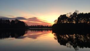 Lanark Loch sunset