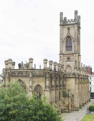 St Luke's Church in Liverpool, known as the 'bombed out church'.