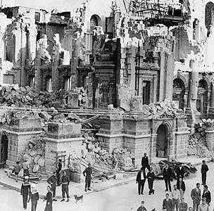 Bombed opera house in Malta
