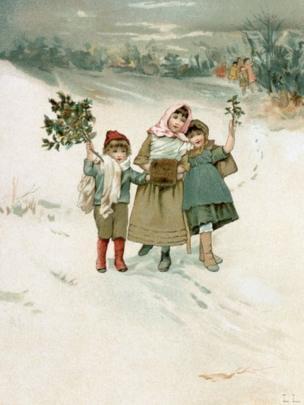 Una ilustración del siglo XIX sobre la Navidad.