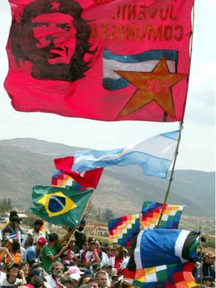 Seguidores del Che en Vallegrande