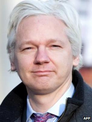 Julian Assange, em 2 de fevereiro de 2012