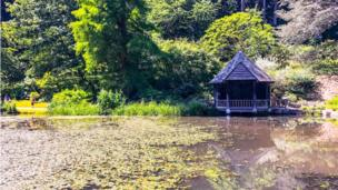 A summer retreat at Bodnant Garden, Conwy county