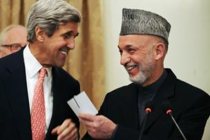 Marai also covered political events in the country. Here then Afghan President Hamid Karzai and US Senator John Kerry were pictured laughing during a press conference at the presidential palace in Kabul in 2009
