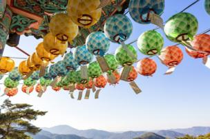 Colourful prayer lanterns