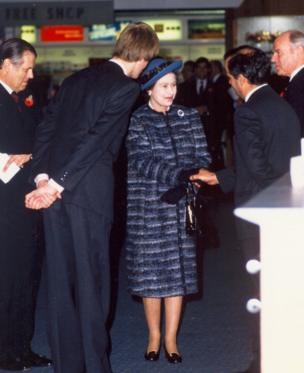 Queen Elizabeth II officially opens London City Airport