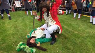 King William claims victory after Sham Fight takes place in Scarva, Craigavon, 13 July 2017