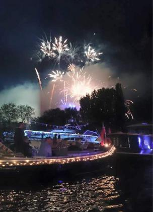 Fireworks over the Thames