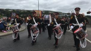 Bands parade on Twelfth July in Londonderry