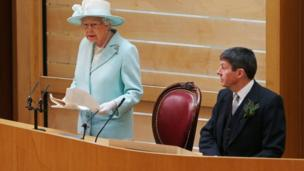 queen addressing holyrood