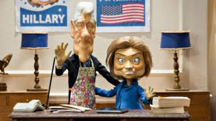 Newzoids puppets of Bill and Hillary Clinton