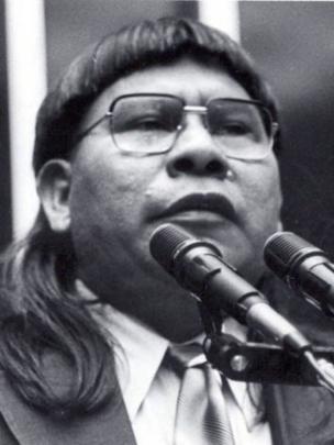 Mario Juruna, indígena da etnia xavante que foi deputado federal