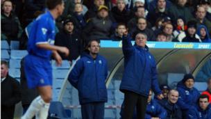 Claudio Ranieri as manager of Chelsea