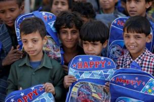 دانش آموزان یتیم یمنی